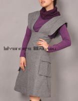 Grey Wool A-line Dress 1 by yystudio
