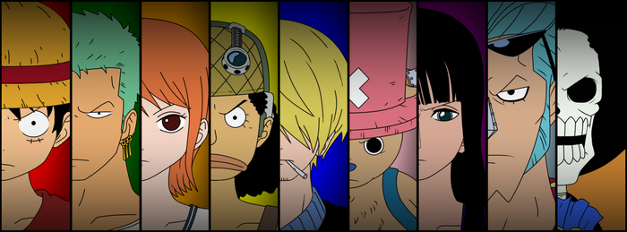 Straw Hat Pirates (Pre-Timeskip) by MizuriArt