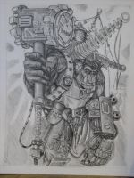 40k Ork Big-mek Sketch by Zsoulless
