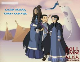 Master Katara, Kuzon and Kyza (Part Two) by KendraKickz0220