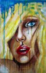 watercolor crayon on cardboard by Mrs-Elric-613