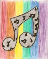 Rainbow Musical Notes by anniecheng09