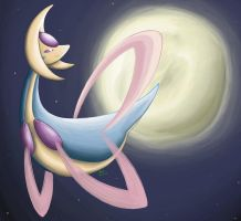 Cresselia Painting by Tikara-the-Mew