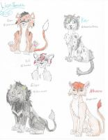 5 lionsona journal drawings by DudeWheresMyLion