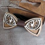Wooden bow tie Gaze by v-vasilinka