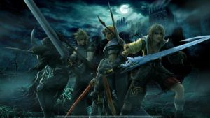 Cecil, Cloud, Firion, and Tidus by SilverCat-sama