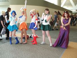 sailor moon cosplay group by jpop52