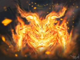Fire demon by droid-4
