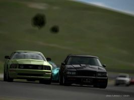 Buick GNX vs Ford Mustang by broettonavarro