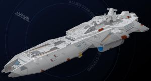 Atlas-class starfighter supercarrier by Shoguneagle
