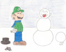 Snowman Surprise by N64chick