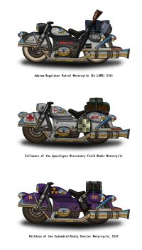 Fallout Motorcycles - the Angels Boneyard by penguin-commando