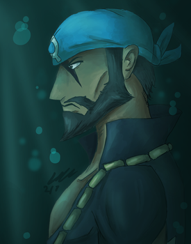 Team Aqua Leader Archie by DelightfullyFreaky