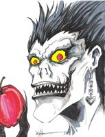 Ryuk, yes I like apples by ChrisOzFulton