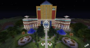 Otaku University MineCraft Build by fargokraft