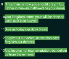 The Lords prayer by GodIsSoCool