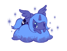 Little Luna On Cloud by WingsOfImagination