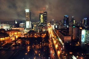 Warsaw By Night by la-chatte