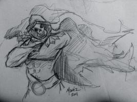 Skeletor Sketch by ToddMoniz
