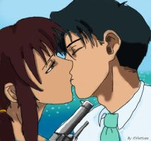 Rock x Revy kiss by Elfetta93