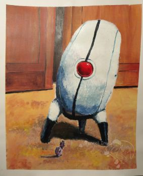 Turret and Twilight Object Painting by tunnelinu