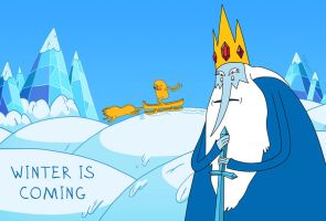 Adventure time winter is coming by thewatt