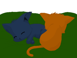 Sasuke and Naru Kitties-SW '11 by InuyashaRules6596