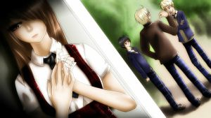 [APH Gakuen] I Love You [JapAnd] by ArantxaCosplayer