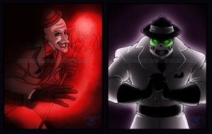 Freakshow and Walker by Silverwingfox