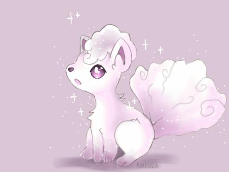 Shiny Alolan Vulpix | 1st Shiny ever! by AmandaMandaPanda