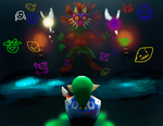 Link against Skull Kid by CC3TheArtist