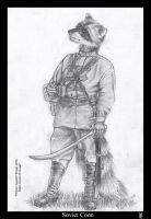 Soviet Coon BW by Foxia