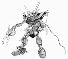 Twin-Headed Lizard Gundam (Dinosaur Gundam) by azraelknightquest