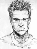 Tyler Durden quicksketch by jaknpoi