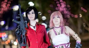 Ada wong and Serah ! by ZombieQueenAlly