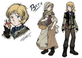 Beth: Character Sheet by Hatted-Squirrel