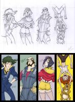 Cowboy Bebop bookmarks by Sandora