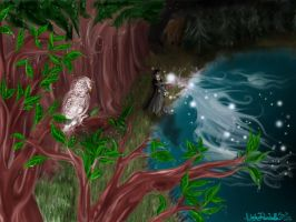 Harry and his Patronus FINAL by ranchelle