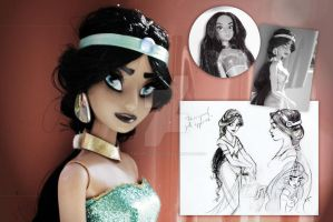 Disney Jasmine | Concept Art Inspired Repaint by claude-on-the-road
