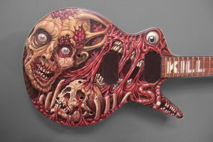 Cannibal Corpse Guitar by tat2pooch
