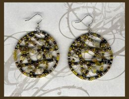 golden yellow earings by DesignsGP