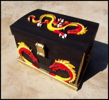 Black Dragon Chest by LuciRamms