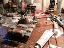 Tamiya 1/35 T-62 Progress report 2.4.2 by DelosQAndrews