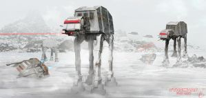 At-at Invasion by lifeformgraphics