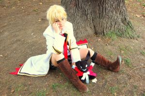 Pandora Hearts- Oz Vessalius and rabbit. by mory-chan