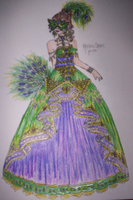 ::Marti Gras Ball Gown:: by Rinikins