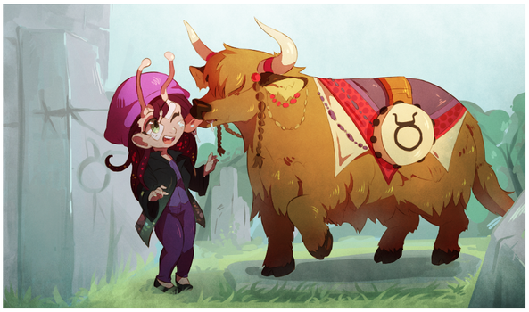 Sammy Zodiac Summons: Taurus-yak by HEARTZMD
