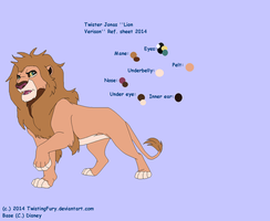 Twister lions: Jonas reference sheet 2014 by Stormchaser-Lioness
