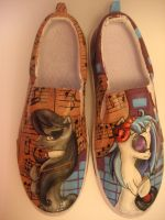 Octavia and Vinyl Scratch Mlp Shoes Copy #2 by Acrylicolt
