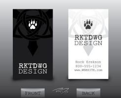 Freelance Designer Business Card Design by RKTDWG